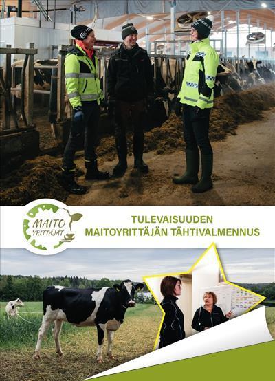 Tulevaisuuden maitoyrittäjän tähtivalmennus - tutustu esitteeseen klikkaamalla kuvaa!